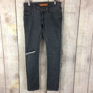 Levi's Skinny Distressed Faded Black Jeans Sz 5M